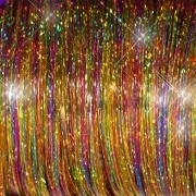 Gemengde Tinsel - Brights Kleuren nummer 2  10 stuks