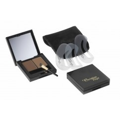 Christian Faye Duo Set : Wenkbrauwpoeder + Highlighter - Dark Brown