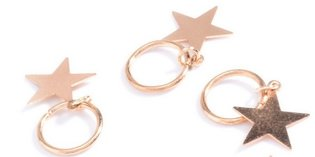 Haar ring Ster Goud (5 stuks)