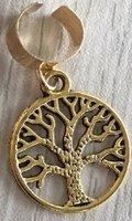 Haar ring breed boom rond Goud(1 stuk)