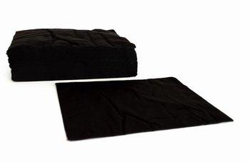 Wegwerp handdoeken eco zwart 70x50 cm 50 stuks