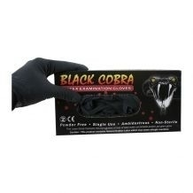 Latex Handschoenen Black Cobra maat M
