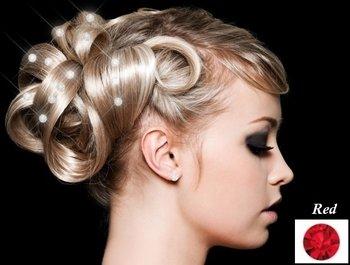 Hair Crystals - Rood (36 stuks)
