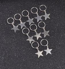 Haar ring Ster Zilver (5 stuks)