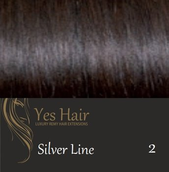 Yes Hair Extensions Silver Line 30 cm NS kleur 2 Donker Bruin