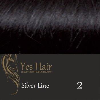 Yes Hair Extensions Silver Line 55/60 cm NS kleur 2 Donker Bruin