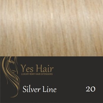 Yes Hair Extensions Silver Line 55/60 cm NS kleur 20