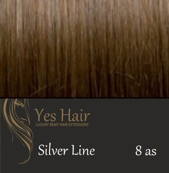 Yes Hair Extensions Silver Line 55/60 cm NS kleur 8 as