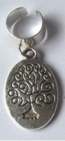 Haar ring breed boom Zilver (1 stuk)
