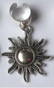 Haar ring breed zon Zilver (1 stuk)