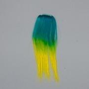 Tie Dye easy hair clip in Ocean Groen Geel (outlet)