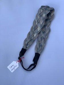 Vlecht haarband - grey elegance