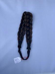 Vlecht haarband - dark brown elegance