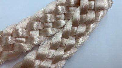 Vlecht haarband - light pink elegance