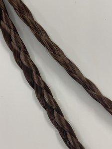 Vlecht haarband - basic brown small