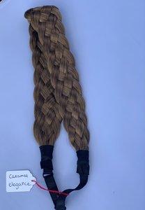 Vlecht haarband - caramel elegance