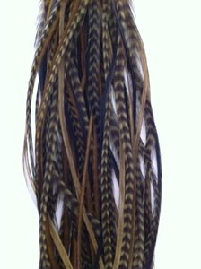 Feather bundel olive