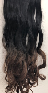 Clip In Hair One Stroke wavy 60 cm #1B/8 OMBRE