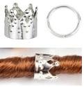 Haar ring kroon zilver